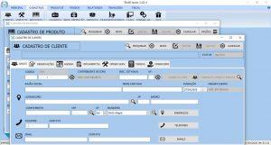 sistema de gestão comerical - tela de cadastros